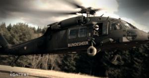 Bundesheer Helikopter Landeanflug