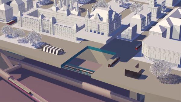 U-Bahn-Bau: Unter US-Gebäude ist vorerst Schluss