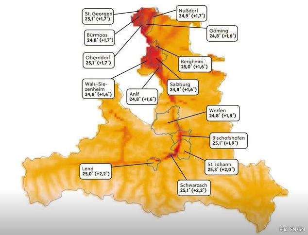 Heißeste Gemeinden Salzburgs