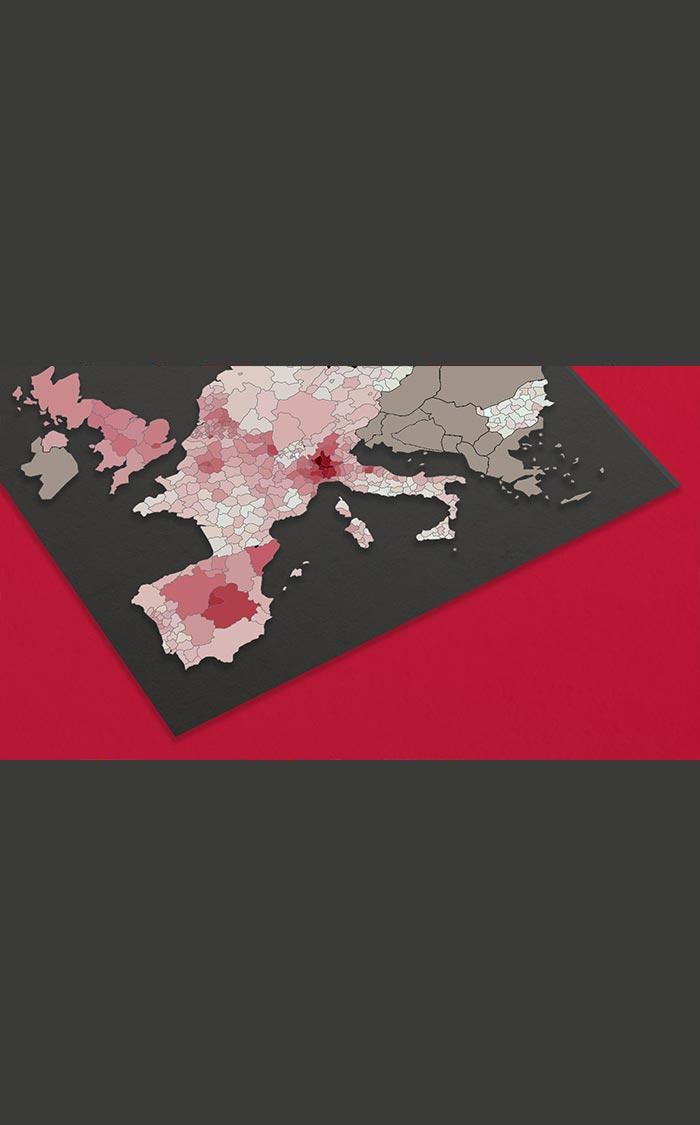 Wenige Regionen für Großteil der Todesfälle der Pandemie in Europa verantwortlich